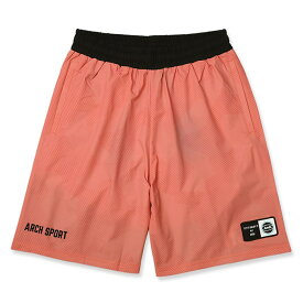 Arch(アーチ)パンツ バスパン sport patched shorts【coral pink】バスケ ウェア ピンク