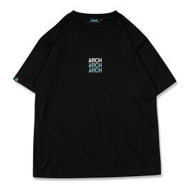 Arch(アーチ)Tシャツ ショートスリーブ gradation logo tee [DRY]【black】バスケ ウェア 黒