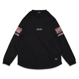 Arch(アーチ)Tシャツ ロングスリーブ slv spray camo L/S tee [DRY]【black】バスケ ウェア 黒