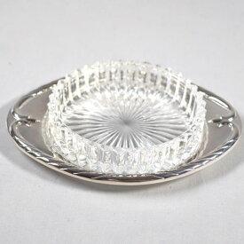 【値下げ】【2021/05/07】CHRISTOPH WIDMANN / クリストフ・ウィドマン ■ガラス 灰皿 シルバーカラー×クリア 【灰皿】 ブランド【未使用】