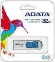 [ADATA] キャップレスで安心 スライド格納式 32GB USBメモリ AC008-32G-RWE