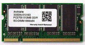 Samsung 3rd サムスンチップ搭載 SODIMM DDR PC2700 512MB (333)