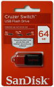 SanDisk サンディスク Cruzer Switch 小型スリムUSBメモリ 64GB SDCZ52-064G-B35