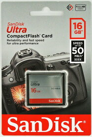 Sandisk サンディスク Ultra 333倍速(50MB/s) CFカード 16GB 海外パッケージ SDCFHS-016G-G46