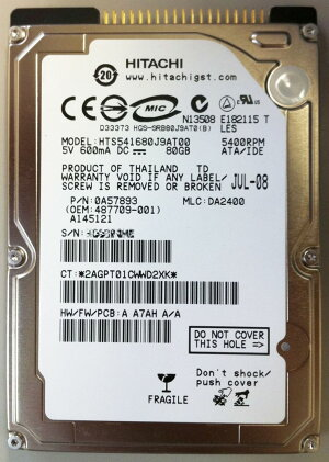 [HGST]HTS541680J9AT002.5inchHDD80GBPATA