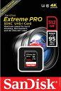 [Sandisk] 送料無料 読込最大 633倍速 95MB/s!サンディスク Extreme Pro SDXCカード Class 10 UHS-I U3対応 512GB SDSDXPA-512G-G46