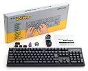 ARCHISS ProgresTouch RETRO メカニカルフルキーボード 日本語JIS配列 黒モデル フルキーボード 2色成型 Cherry MX 静音赤軸(Silent R…