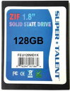 100位:SUPER TALENT DuraDrive ZT4 SSD 1.8インチ 128GB MLC ZIF(IDE)接続 5mm厚 FEU128MD1X