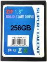 SUPER TALENT DuraDrive ZT4 SSD 1.8インチ 256GB MLC ZIF(IDE)接続 FEU256MD1X