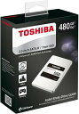 TOSHIBA 東芝 Q300シリーズ SSD 2.5inch 480GB SATA 6Gbps (読込:550MB/s 書込:520MB/s) HDTS848AZSTA 海外パッケージ