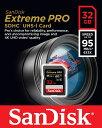 SANDISK 新品アウトレット(パッケージ不良/未使用新品) サンディスク Extreme Pro V30対応 UHS-I U3 SDHCカード 32GB (読取95MB/秒、…