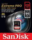 SANDISK サンディスク Extreme Pro V30対応 UHS-I U3 SDXCカード 256GB (読取95MB/秒、書込90MB/秒) SDSDXXG-256G-GN4IN