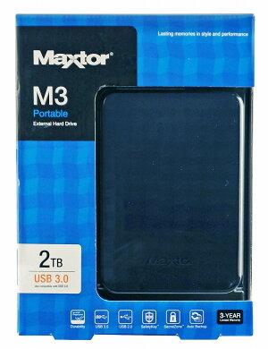 【MAXTORSEAGATE】M3PortableUSB3.0対応2.5インチ2TBポータブル外付ハードディスクHX-M201TCB/GM
