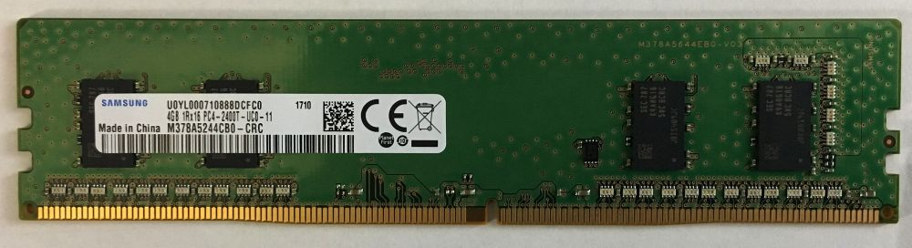 SAMSUNG ORIGINALサムスン純正 デスクトップ用メモリ PC4-19200 DDR4-2400 288pin CL11 4GB (512Mx8)