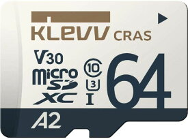 ESSENCORE KLEVV CRASシリーズ 読込100MB/s 書込40MB/s UHS-I A2 V30 U3対応 microSDXCカード 64GB K064GUSD6U3-CA Nintendo Switch 動作確認済