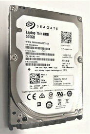 SEAGATE リファービッシュ 6ヶ月保証 ノートPC用 2.5inch HDD 500GB (SATA 6Gb/s、32MB、7200rpm、7mm厚) ST500LM021