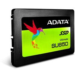 ADATA SU650シリーズ 3D NAND採用 7mm厚 SSD 1.92TB SATA 6Gbps 読込最大520MB/s 書込最大450MB/s 3年保証 ASU650SS-1T92T-R