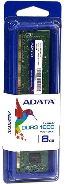 ADATA エーデータ PC3-12800 DDR3-1600 240pin 8GB 512x8 デスクトップPC用メモリ AD3U1600W8G11-S 永久保証