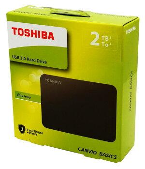 【TOSHIBA】東芝CANVIOBASICSUSB3.0対応2.5インチ2TBポータブル外付ハードディスクHDTB420AK3AA