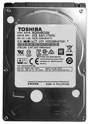 TOSHIBA東芝2.5インチ2TBHDDSATA6Gb/s5400rpm128MB512e9.5mm厚MQ04ABD200バルク品