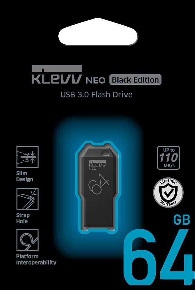 ESSENCORE エッセンコア KLEVV クレブ NEO Black edition USBメモリ 64GB U064GUR3-NE USB3.0 R=110MB/s