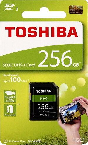 [TOSHIBA]4Kビデオ録画にオススメ!東芝EXCERIAPRON203UHS-IU1対応SDXCカード256GBTHN-N203N2560A4