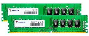 ADATAエーデータPC4-21300DDR4-26668GB(4GBx2)デスクトップ用288pinUnbufferedDIMM1.2VAD4U2666J4G19-D