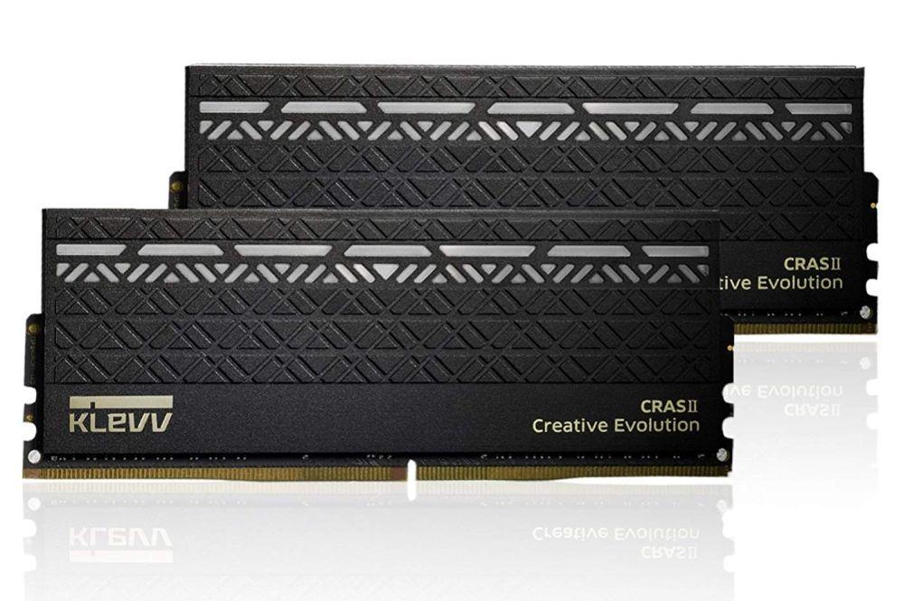 ESSENCORE KLEVV CRAS II オーバークロックPC用 メモリ DDR4-3000 16GB (8GB x 2) 単色LED(白)搭載 KM4Z8GX2A-3000-15-16-16-36-1