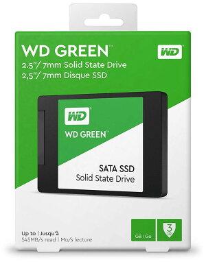 WesternDigital(ウエスタンデジタル)WDGreen120GB2.5インチ内蔵SSD7mmSATA36GB/sSLCキャッシュ搭載WDS120G2G0A3年保証