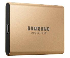 Samsung サムスン 外付けSSD T5 1TB USB3.1 Gen2対応 ハードウェア暗号化 パスワード保護 V-NAND搭載 MU-PA1T0G/WW ゴールド