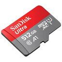 SanDisk サンディスク Ultra microSDXCカード 512GB Class10 UHS-I A1対応 読込速度:100MB/s SDSQUAR-512G-GN6MA 防水仕様