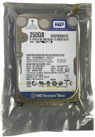 WESTERN DIGITAL WD Blueシリーズ 2.5inch HDD 250GB IDE (PATA) 5400回転 WD2500BEVE