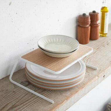 ディッシュストレージ《tosca》☆Kトスカtoscaキッチン収納北欧白スタンドディッシュお皿キッチンツールホワイト木シンプルモダンかわいいおしゃれデザインスタイリッシュ
