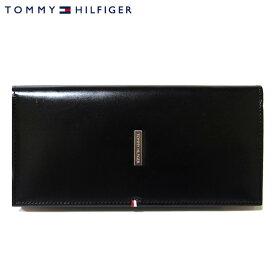 【TOMMY HILFIGER】トミー ヒルフィガー 長財布 小銭入れあり レザー ブラック 31TL19X012-001/0092 5167 01