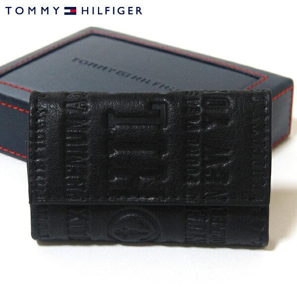 【TOMMY HILFIGER】トミーヒルフィガー キーケース トミー・ヒルフィガー 6連キーケース Eastborne ブラック 31TL17X016-001 0094 5646 01