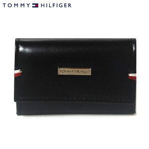 【TOMMYHILFIGER】トミーヒルフィガー6連キーケースブラックDEERFIELDメンズ31TL17X011-001/0094-5168-01