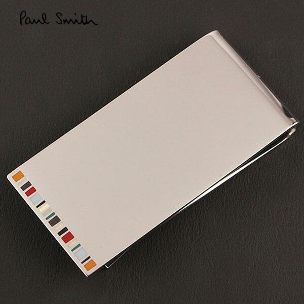 【PaulSmith】ポールスミス マネークリップ シルバー/マルチカラー AUXC MONE FINER 92【送料無料】