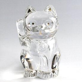 【Baccarat】バカラ 招き猫 フィギュア オーナメント クリア 2607786 【送料無料】【あす楽対応】