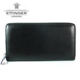 【ETTINGER】エッティンガー 長財布 メンズ ラウンドファスナー PP 2051EJR PURPLE ロイヤルコレクション ブラック×パープル 【あす楽対応】【送料無料】