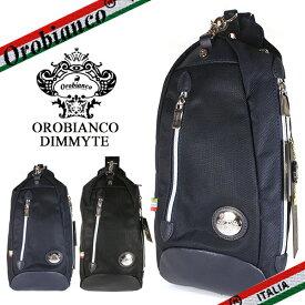 【OROBIANCO】オロビアンコ ボディバッグ メンズ DIMMYTE-C ディミテ イタリアンバリステック ナイロン 斜めがけ ショルダーバッグ ブラック/ブルー