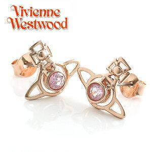 【Vivienne Westwood】ヴィヴィアンウエストウッド ピアス ノーラ スタッド イヤリング ピンクゴールド×ライトピンク 3474【あす楽対応】【送料無料】