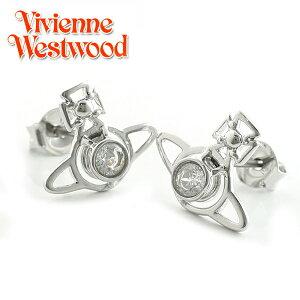 【Vivienne Westwood】ヴィヴィアンウエストウッド ピアス ノーラ スタッド イヤリング シルバー×ホワイト 3473【あす楽対応】【送料無料】