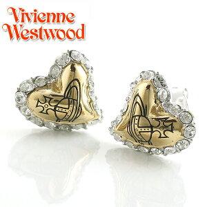 【Vivienne Westwood】ヴィヴィアンウエストウッド ピアス ジータ スタッド イヤリング ハート シルバー×ライトトパーズ 2810【あす楽対応】【送料無料】