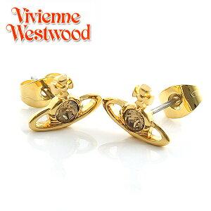 【VivienneWestwood】ヴィヴィアン・ウエストウッド ピアス ナノソリティアピアス ゴールド クリスタル Nano Solitaire Earrings Crystal ヴィヴィアンピアス ピアス 0741 【あす楽対応】【送料無料】