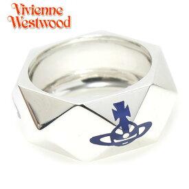 【Vivienne Westwood】ヴィヴィアン ウエストウッド  リング 指輪 スタッドリング シルバー×ロイヤルブルー 2868 【送料無料】