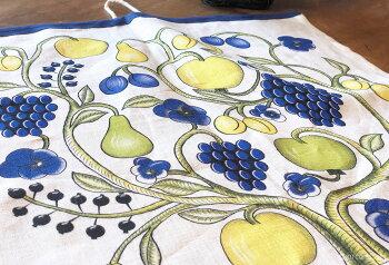 KUOVI(クオヴィ)キッチンタオルおしゃれな北欧デザインARABIAパラティッシオーチャード食器タオルリネで作られたキッチン雑貨プレゼントギフトにぴったり台拭きカイネピアンデザインフィンランドを代表する北欧デザイン【メール便可】