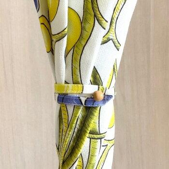 KUOVI(クオヴィ)傘おしゃれアンブレラ高級傘リネンハンドメイド小物京都手仕事北欧テキスタイルオーチャード柄ARABIAパラティッシデザイン