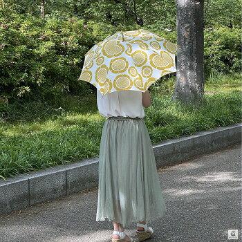KUOVI(クオヴィ)傘おしゃれアンブレラ高級傘リネン京都手仕事北欧テキスタイルサンデーモーニング柄ARABIAスンヌンタイデザイン