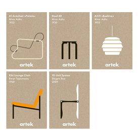 Artek(アルテック)ポストカード DIN A6 アイコン ポストカード 5枚 おしゃれな北欧雑貨 北欧を代表するアアルトデザイン ステーショナリー カード レター お手紙 アートインテリア 北欧インテリア雑貨 プレゼント ギフトにぴったり ハガキ 葉書【在庫のない場合は取寄】