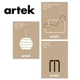 Artek (アルテック) ポスター 50×70cm おしゃれな北欧デザイン インテリア 雑貨 パイミオ キキラウンジチェア ビーハイブ 壁インテリア プレゼント 北欧を代表するアアルトデザイン